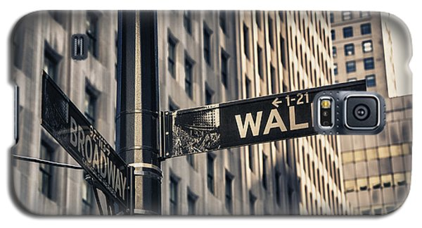 Wall Street Sign Galaxy S5 Case