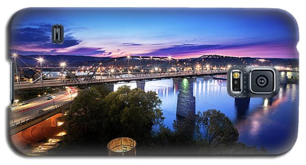 Walnut Street Walking Bridge Bluff View Galaxy S5 Case by Steven Llorca