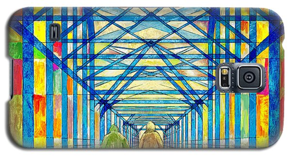 Walkers On The Bridge Poster Galaxy S5 Case