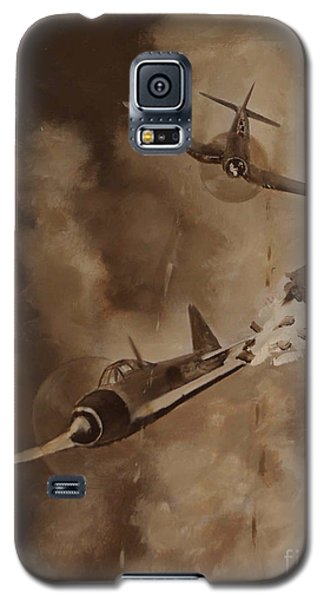 Galaxy S5 Case featuring the painting Walsh Scores Another - Grisaille by Stephen Roberson