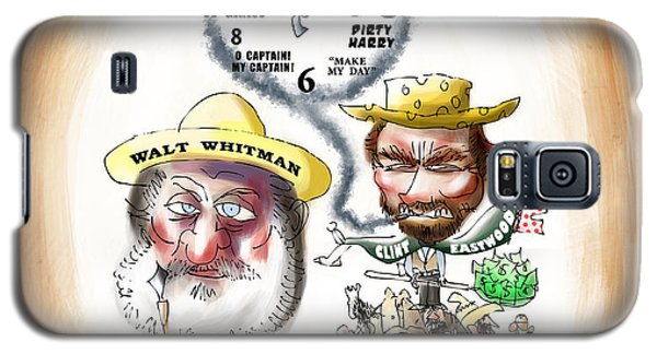Walt Whitman Meets Clint Eastwood Galaxy S5 Case