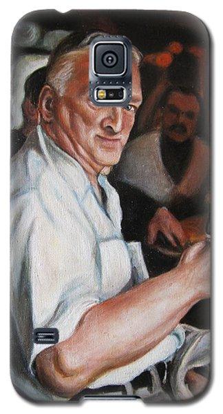 Galaxy S5 Case featuring the painting Walter At Eddies Bar by Melinda Saminski