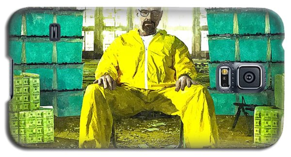 Walter White As Heisenberg Painting Galaxy S5 Case by Gianfranco Weiss