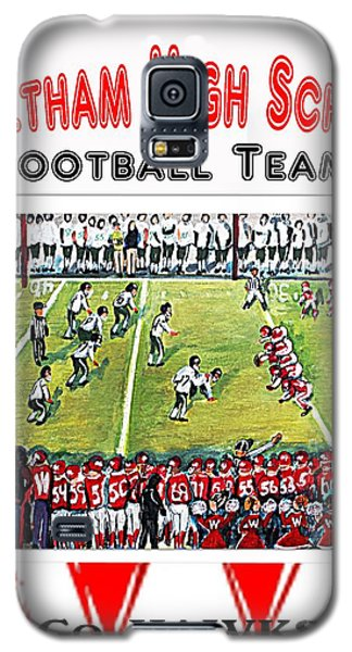Galaxy S5 Case featuring the painting Waltham High School Hawks by Rita Brown
