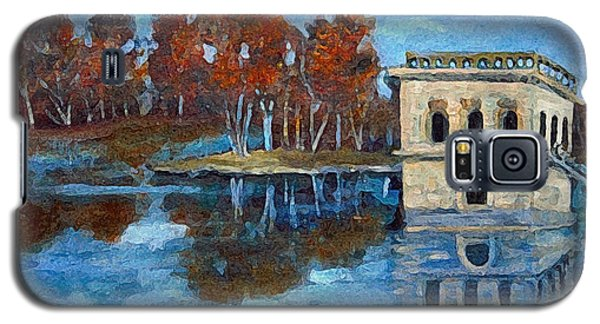 Galaxy S5 Case featuring the painting Waltham Reservoir by Rita Brown