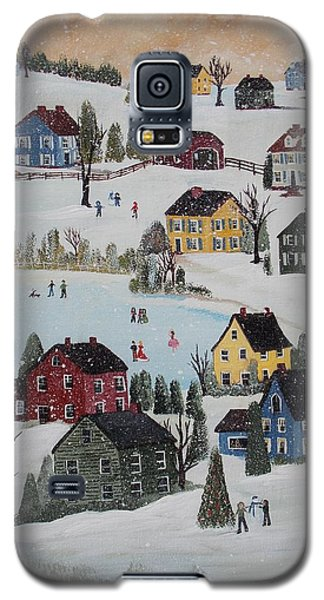 Galaxy S5 Case featuring the painting Waltzing Snow by Virginia Coyle