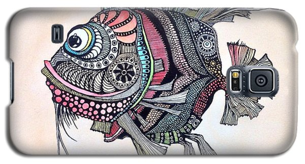 Galaxy S5 Case featuring the painting Wanda The Fish by Iya Carson