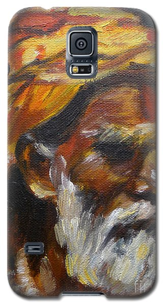 Galaxy S5 Case featuring the painting Wandering Sage Small by Mukta Gupta