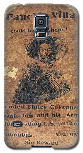 Wanted Poster For Pancho Villa After Columbus New Mexico Raid  Galaxy S5 Case