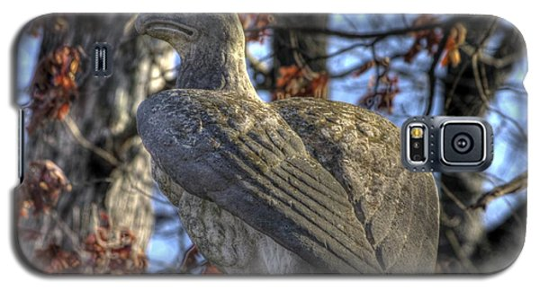 Galaxy S5 Case featuring the photograph War Eagles - 28th Massachusetts Volunteer Infantry Rose Woods Near The Wheatfield Winter Gettysburg by Michael Mazaika