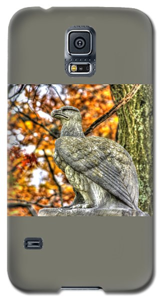 Galaxy S5 Case featuring the photograph War Eagles - 28th Massachusetts Volunteer Infantry Rose Woods The Wheatfield Fall-a Gettysburg by Michael Mazaika