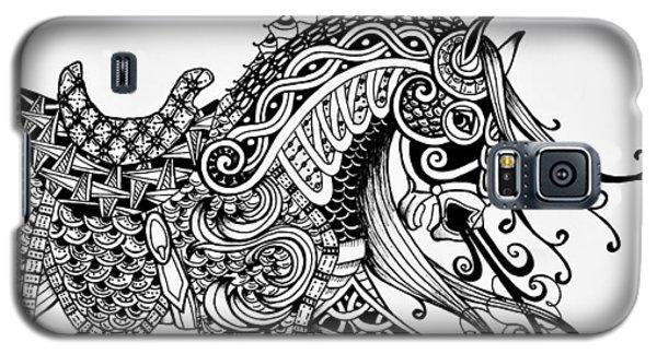 War Horse - Zentangle Galaxy S5 Case by Jani Freimann