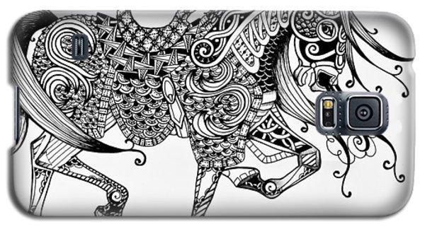 War Horse - Zentangle Galaxy S5 Case
