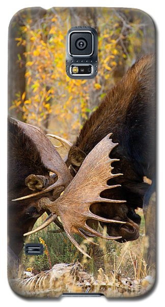 Galaxy S5 Case featuring the photograph War In The Woods by Aaron Whittemore