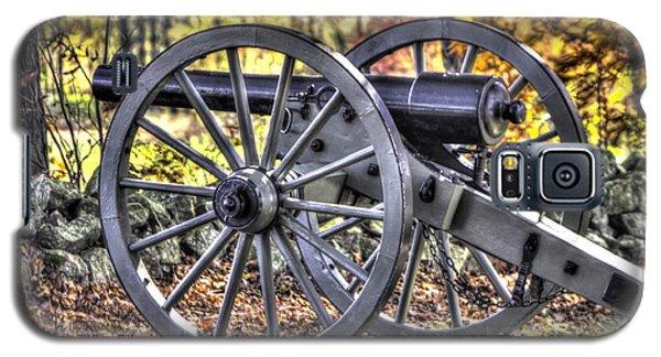 Galaxy S5 Case featuring the photograph War Thunder - The Albemarle Va Artillery Wyatt's Battery-b2 West Confederate Ave Gettysburg by Michael Mazaika