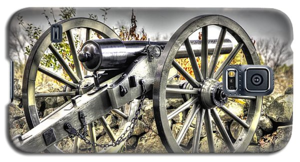Galaxy S5 Case featuring the photograph War Thunder - The Letcher Artillery Brander's Battery West Confederate Ave Gettysburg by Michael Mazaika
