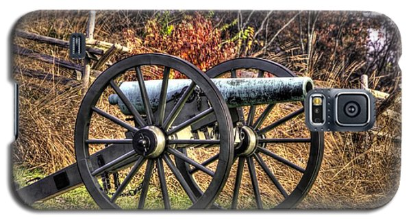 Galaxy S5 Case featuring the photograph War Thunder - The Morris Artillery Page's Battery Oak Hill Gettysburg by Michael Mazaika
