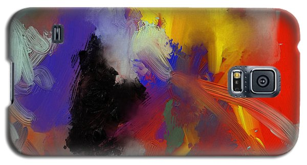 Galaxy S5 Case featuring the painting Warm Autumn Night by Nop Briex