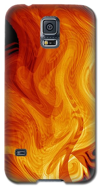 Galaxy S5 Case featuring the digital art Warmth by rd Erickson
