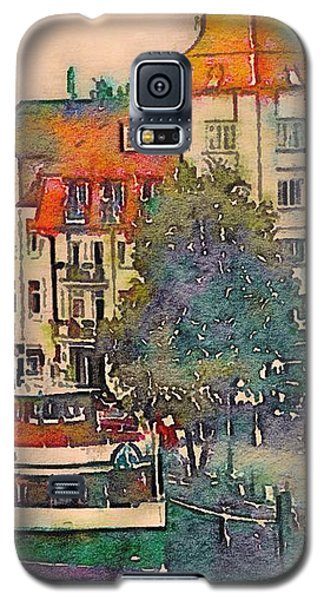 Galaxy S5 Case featuring the photograph Warnemunde In Watercolor by Susan Maxwell Schmidt