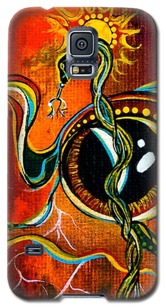 Galaxy S5 Case featuring the painting Warrior Spirit Eye by Deborha Kerr