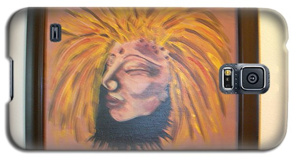 Galaxy S5 Case featuring the painting Warrior Woman #1 by Sharyn Winters