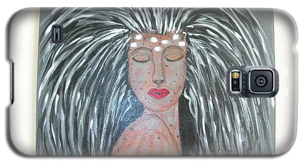 Galaxy S5 Case featuring the painting Warrior Woman #2 by Sharyn Winters