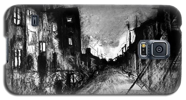 Galaxy S5 Case featuring the drawing Warsaw Ghetto 1945 by Maja Sokolowska