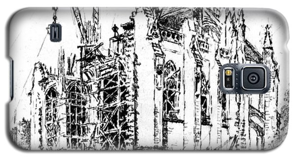 Washington Cathedral Construction 1923 Galaxy S5 Case by Padre Art
