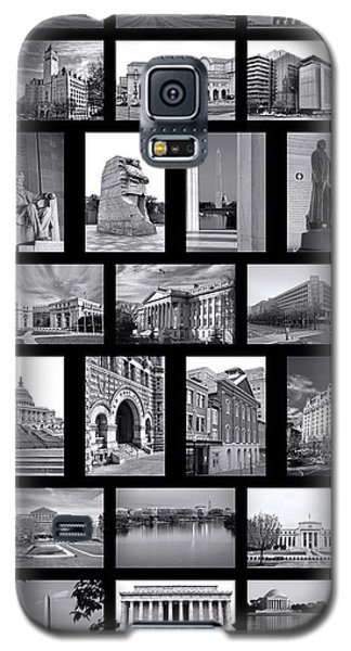 Washington Dc Poster Galaxy S5 Case by Olivier Le Queinec