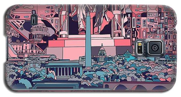 Lincoln Memorial Galaxy S5 Case - Washington Dc Skyline Abstract 2 by Bekim Art