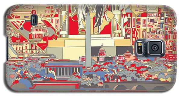 Lincoln Memorial Galaxy S5 Case - Washington Dc Skyline Abstract 6 by Bekim Art