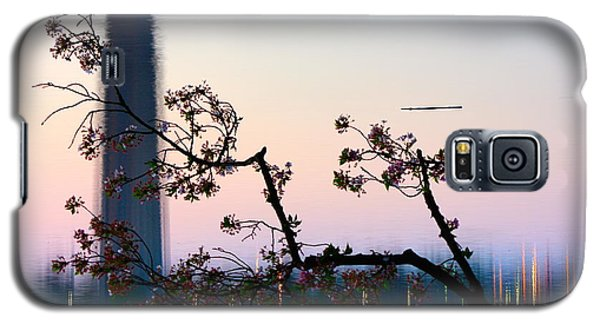 Washington Monument Reflection With Cherry Blossoms Galaxy S5 Case