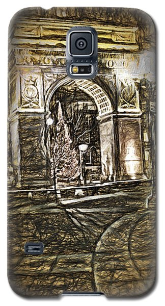 Washington Square Sketch Galaxy S5 Case by Terry Cork
