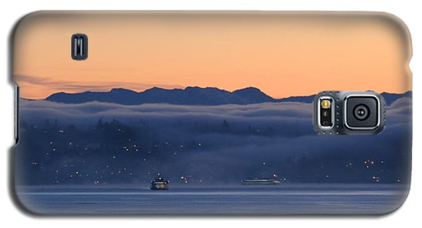 Galaxy S5 Case featuring the photograph Washington State Ferries At Dawn by E Faithe Lester