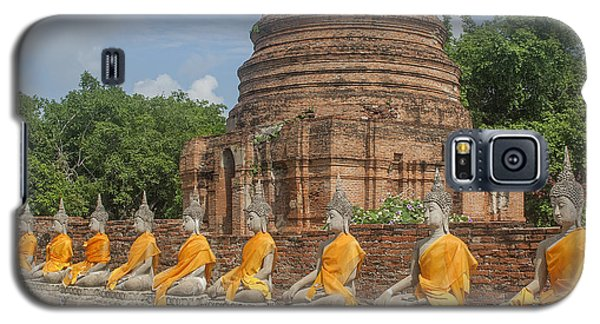 Wat Phra Chao Phya-thai Buddha Images And Ruined Chedi Dtha005 Galaxy S5 Case