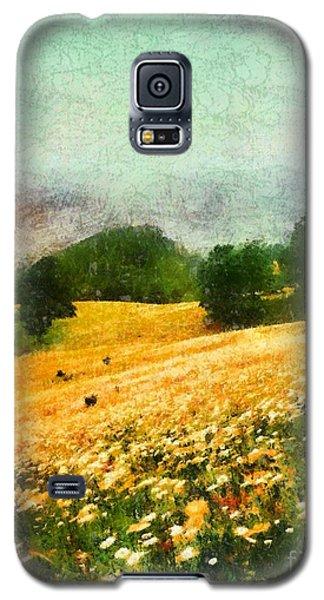 Galaxy S5 Case featuring the painting Watauga County North Carolina by Elizabeth Coats