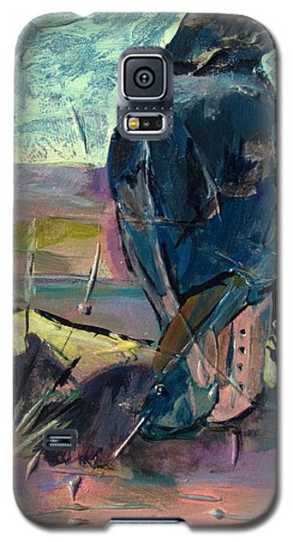 Galaxy S5 Case featuring the painting Watchful American Icon by Betty Pieper
