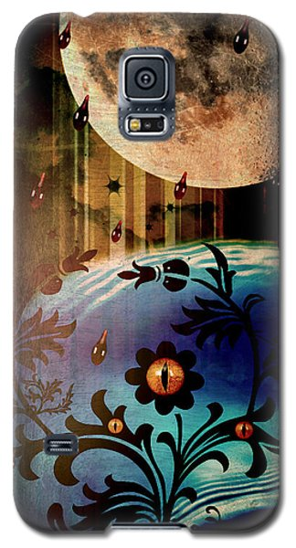 Galaxy S5 Case featuring the mixed media Watching by Ally  White