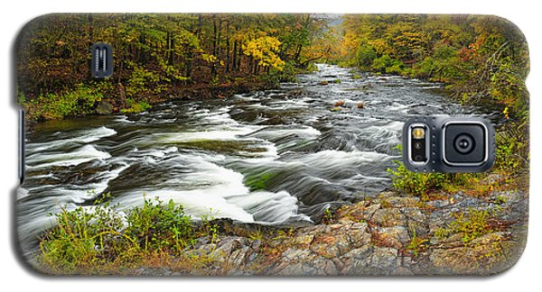 Watching It All Go By  At Beaver's Bend Broken Bow Fall  Foliage Oklahoma Galaxy S5 Case