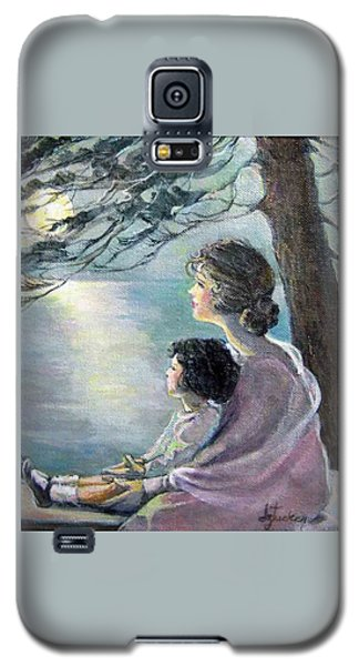 Watching The Moon Galaxy S5 Case by Donna Tucker
