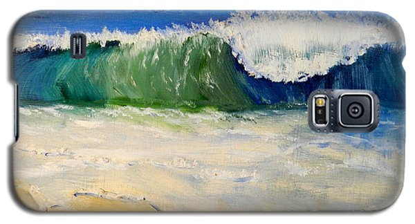 Watching The Wave As Come On The Beach Galaxy S5 Case