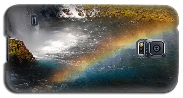 Galaxy S5 Case featuring the photograph Water And Rainbow by Debra Thompson