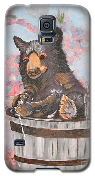 Galaxy S5 Case featuring the painting Water Bear by Phyllis Kaltenbach