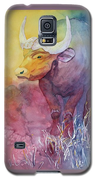 Galaxy S5 Case featuring the painting Water Buffalo by Nancy Jolley