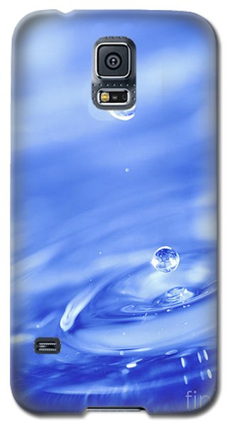 Water Drops In Blue Galaxy S5 Case