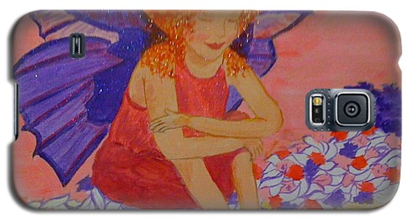 Galaxy S5 Case featuring the painting Water Fairy by Judi Goodwin