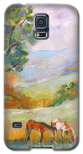 Galaxy S5 Case featuring the painting Water Hole by Mary Armstrong