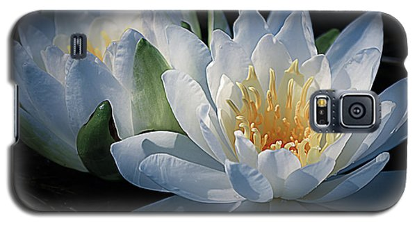Water Lilies In White Galaxy S5 Case