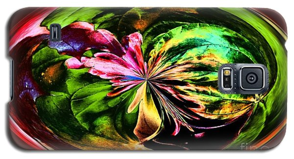 Water Lily Abstract Art Galaxy S5 Case by Annie Zeno